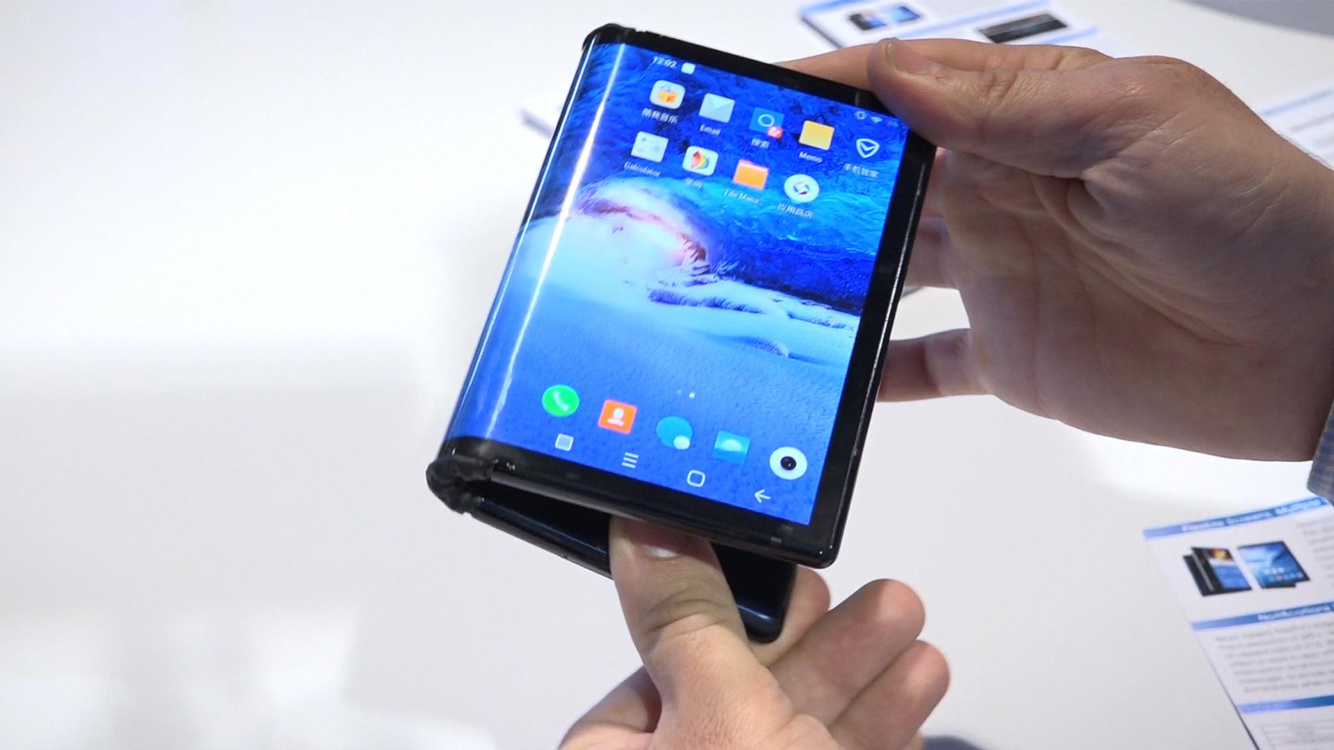 écran smartphone pliable